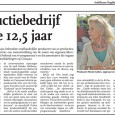 Antilliaans Dagblad Portret van Renée Gielen in het kader van het 12,5 jarig jubileum van haar productiebedrijf ReGie.