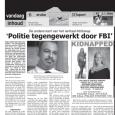 """""""Politie tegengewerkt door FBI"""" Artikel in Amigoe 3 juli 2007 door Michael Willemse"""